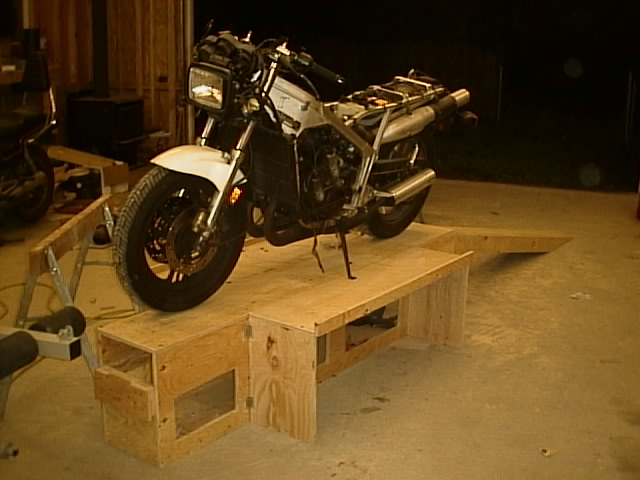 Photo album motorcycle workstand and ramp for Motorcycle garage plans